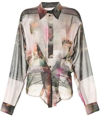 Zambesi paradise print sheer shirt