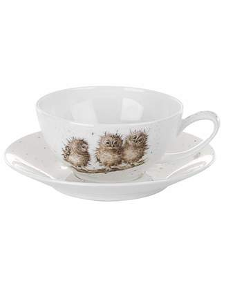 Portmeirion Wrendale - Cappuccino Cup & Saucer (Owl)