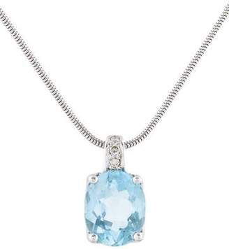 H.Stern 18K Topaz & Diamond Pendant Necklace