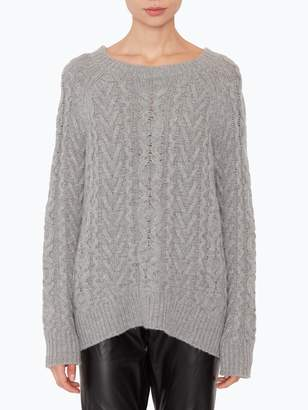 Nili Lotan Arienne Cable Crewneck Sweater