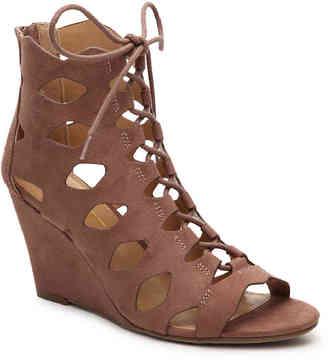 Women's Shamos Wedge Sandal -Black $60 thestylecure.com