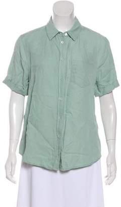 Equipment Short Sleeve Silk Top