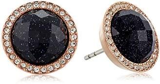 Fossil Shimmer Glass Stone Stud Earrings