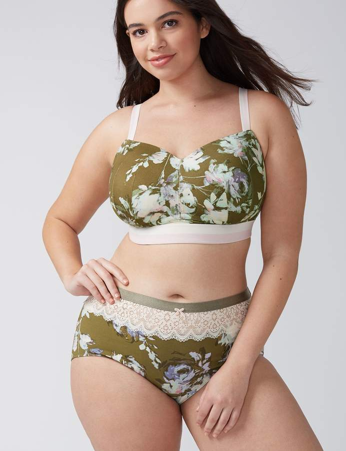 Cotton Full Brief Panty with Lace Waist