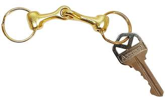 Hill Leather Company Solid Brass Horse Snaffle Bit Key Chain With Gift Box