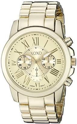 XOXO Women's XO228 Gold-Tone Bracelet Watch