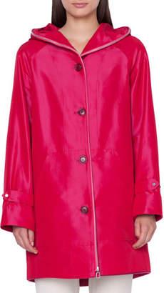 Akris Bellevue 2-in-1 Short Coat w/ Cashmere Bib
