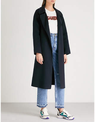 Sandro Notch-lapel wool coat