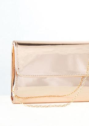 845d3ee9db80 Missy Empire Missyempire Idelle Rose Gold Patent Envelope Clutch Bag