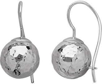 JCPenney FINE JEWELRY Infinite Gold 14K White Gold Hammered Drop Earrings