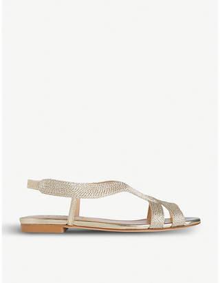 LK Bennett Maya metallic-leather sandals
