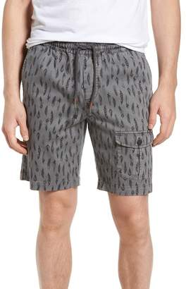 Michael Bastian Garment Dyed Print Pocket Shorts