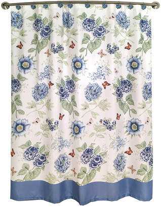 Lenox Blue Floral Shower Curtain Bedding