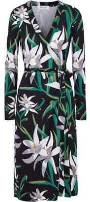 Diane von Furstenberg Cybil Floral-Print Silk-Jersey Wrap Dress