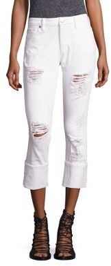 True Religion Liv Distressed Relaxed Skinny Jeans $199 thestylecure.com