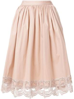 Blumarine decorative trim midi skirt