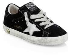 Golden Goose Baby's& Kid's Superstar Suede Sneakers