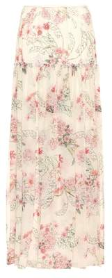 Giambattista Valli Floral-printed silk skirt