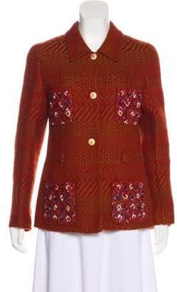 Chanel Wool Chevron Jacket