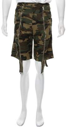 Hood by Air Camouflage Denim Shorts