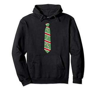 Funny Christmas Candy Cane Tie Holiday Hoodie