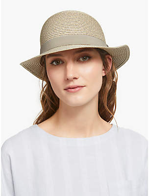 bf98244b John Lewis & Partners Packable Small Brim Sun Hat, Grey Mix