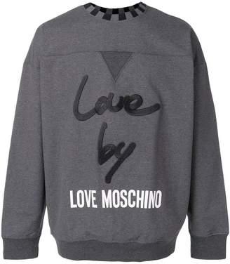 Love Moschino boxy-fit branded sweatshirt
