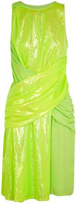 Sies Marjan Quincy Yellow Iridescent Sequinned Dress