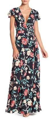Lovers + Friends Kayla Floral Wrap Maxi Dress