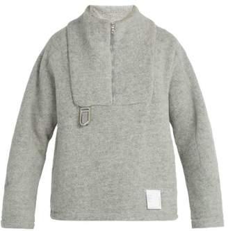 Satisfy Air Wool Half Zip Jacket - Mens - Grey