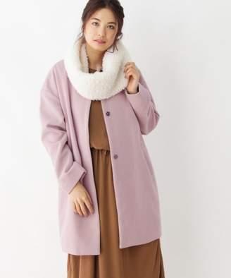 PINK adobe (ピンク アドベ) - pink adobe 【セットアイテム】ファースヌード付きノーカラーコート