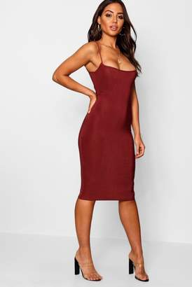 boohoo Slinky Strappy Bodycon Dress