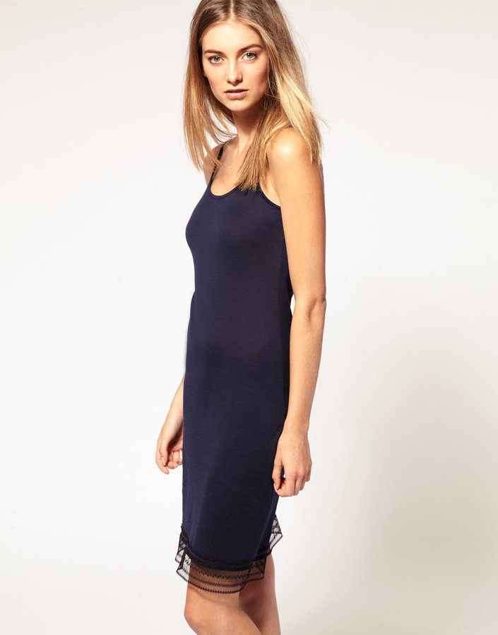 Sunspel Lace Trim Slip Dress