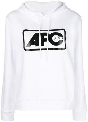 A.P.C. logo-printed hoodie