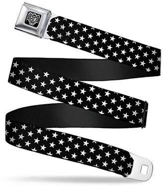 Buckle-Down Unisex-Adults Seatbelt Belt Stars XL Stripes red/Blue/White