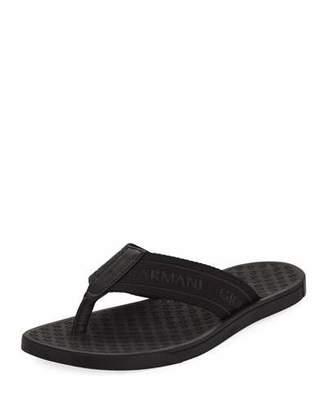 Giorgio Armani Logo Jacquard Thong Sandals