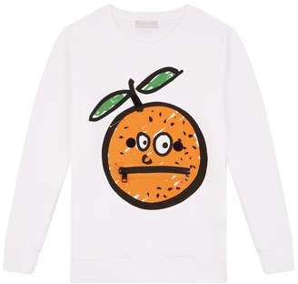 Stella McCartney Orange Badge Sweatshirt