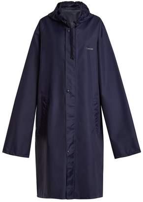 Vetements - Horoscope Cancer Hooded Raincoat - Womens - Navy