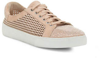 Vince Camuto Chenta Studded Suede Low-Top Sneakers