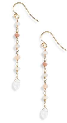 Chan Luu Semiprecious Stone Linear Drop Earrings