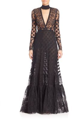Lace Choker Gown