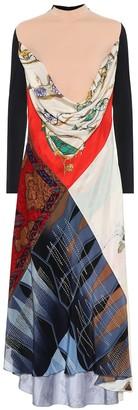 Marine Serre Printed silk dress