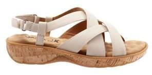 SoftWalk Bonaire Crisscross-Strap Leather Slingback Sandals