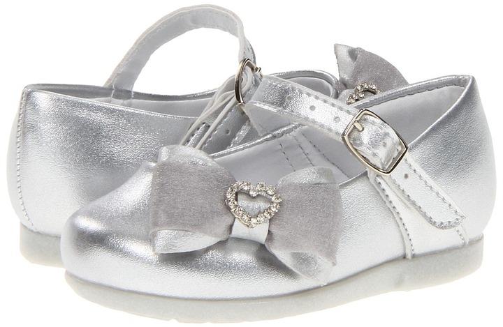 Pampili Angel 4690 (Infant/Toddler) (Silver) - Footwear
