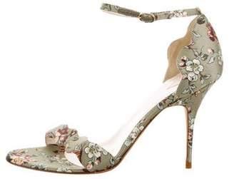 Alexandra Neel Satin Floral Sandals