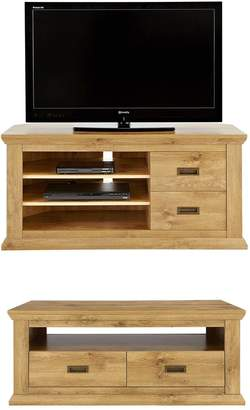 Very Clifton 2-Piece Package - Coffee Table and Corner TV Unit (Buy and SAVE!)