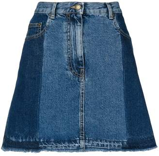McQ flared denim skirt