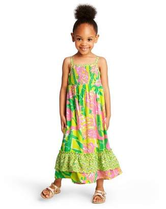 Lilly Pulitzer for Target Toddler Girls' Fan Dance Sleeveless Square Neck Maxi Dress for Target Pink/Yellow