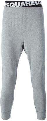Dsquared2 angular logo lounge trousers $250 thestylecure.com