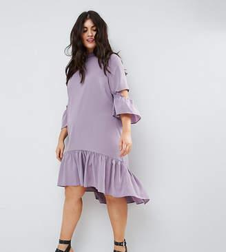 Asos Tea midi dress with Ruffle